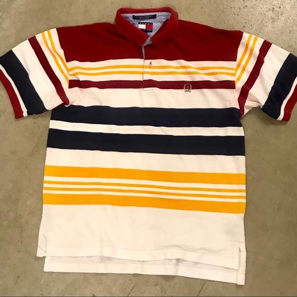 2d64a901cf 90s Vintage Tommy Hilfiger Multicolor Striped Polo.  M_5b58615212cd4a8312c2166e